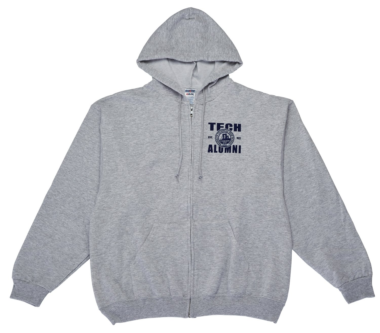 Zippered Hooded Sweatshirt - Alumni Imprint