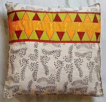 Fun patchwork cushion