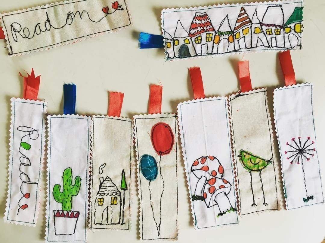 Bookmarks - thread doodled