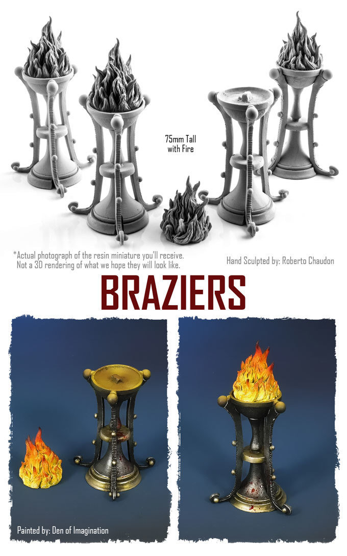Braziers (Set of 4) NXHZD002
