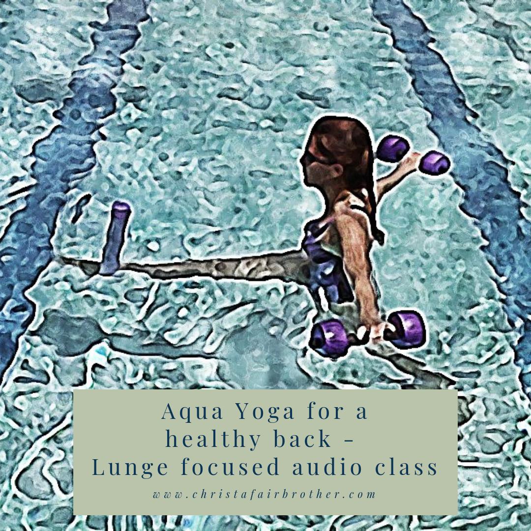 Aqua Yoga for a healthy back - Lunge focused audio class 00024