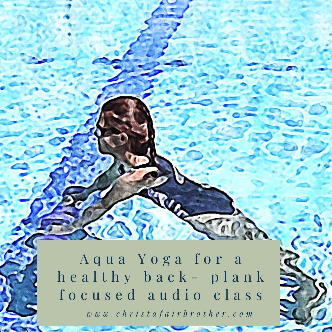 Aqua Yoga Audio Recording - Plank focused Sequence 00025