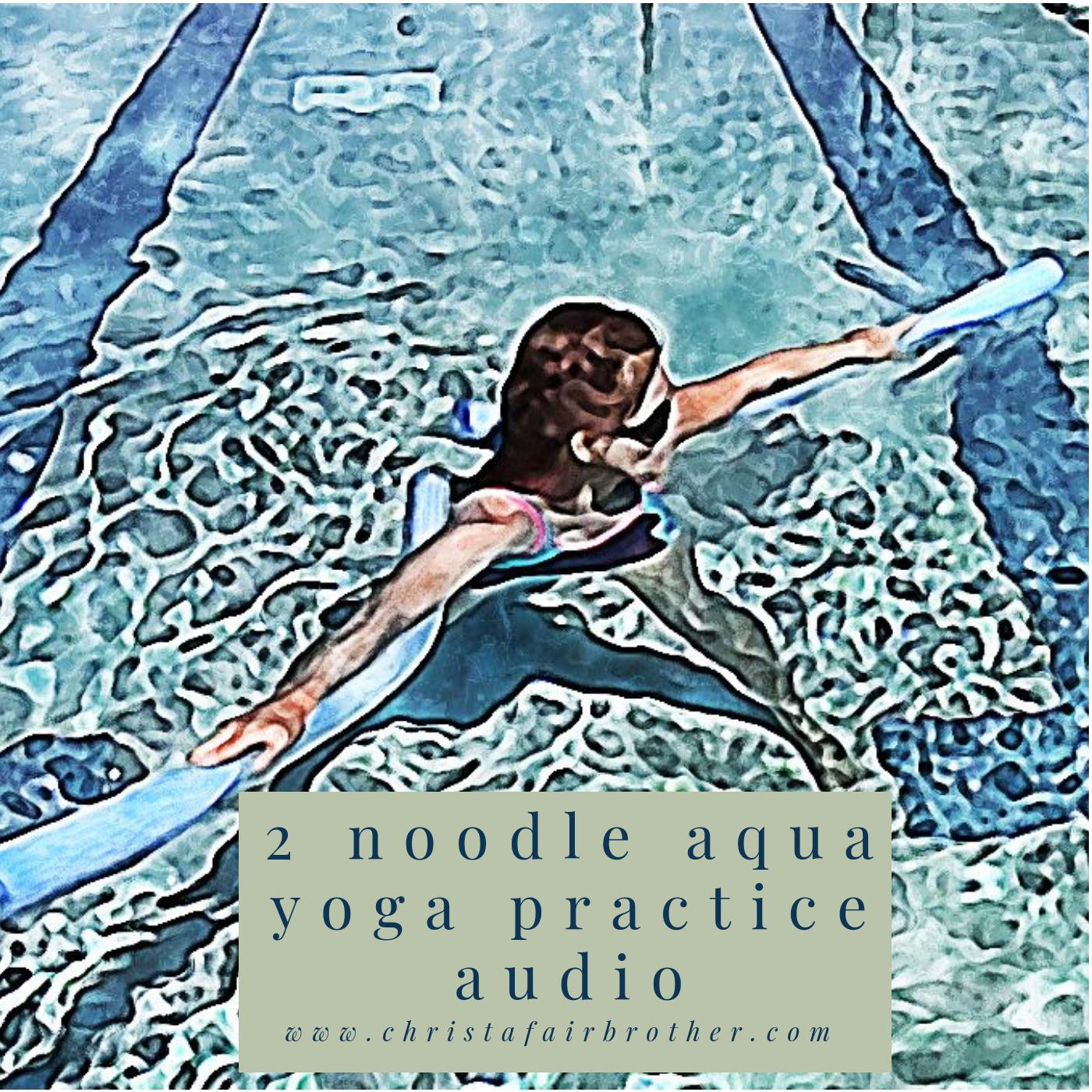 Aqua Yoga Audio Class - 2 Noodle Sequence 00026