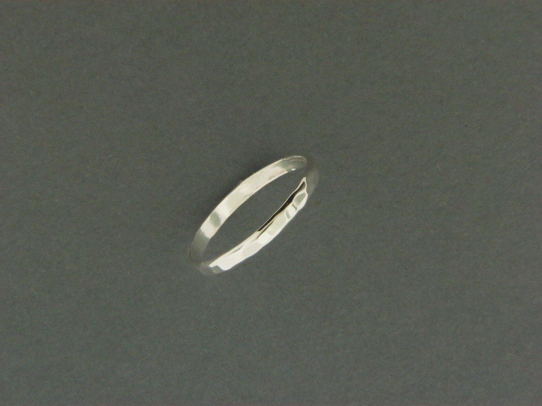 Thin Band Hammered Ring