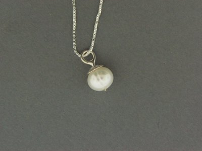 Fresh Water Pearl Drop Bead Pendant