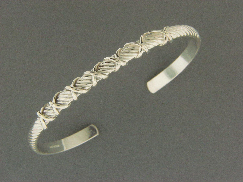 Snake Cuff w/SS Wrap Bracelet
