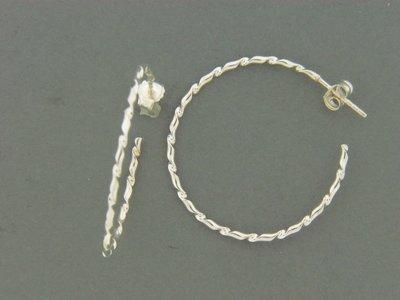 Large Twisty Hoop Earrings