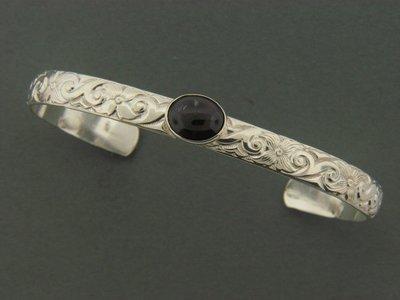 Print Cuff  w/Stone Bracelet