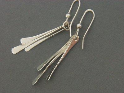 Triple Stick Earrings