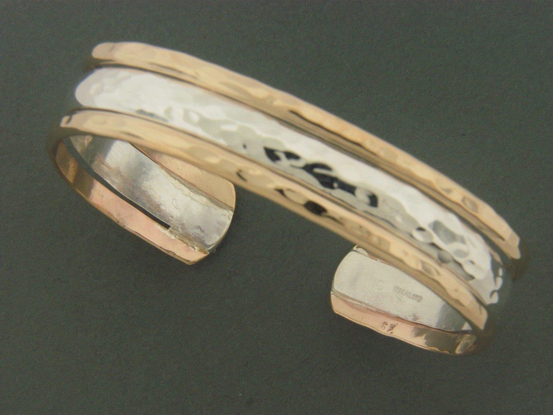 Triple Band SS/GF  Cuff Bracelet