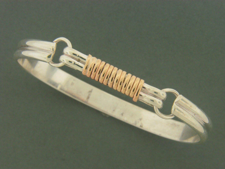 Heavy Double Band w/GF Hook Bracelet