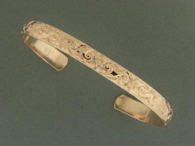 Gold Filled Ivy Print Bracelet