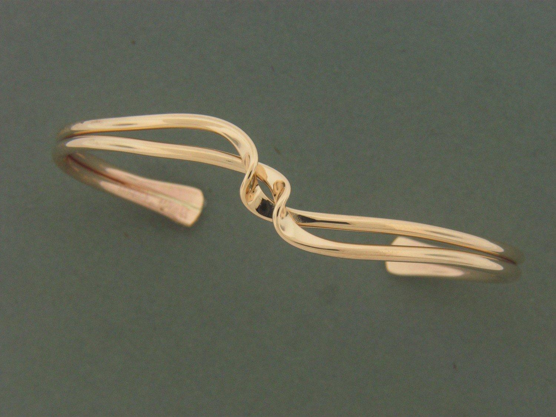 Gold Filled Entwined Wave Bracelet