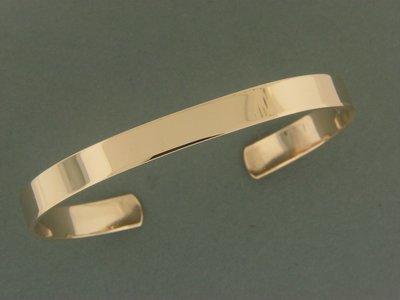 Gold Filled Flat Smooth Bracelet