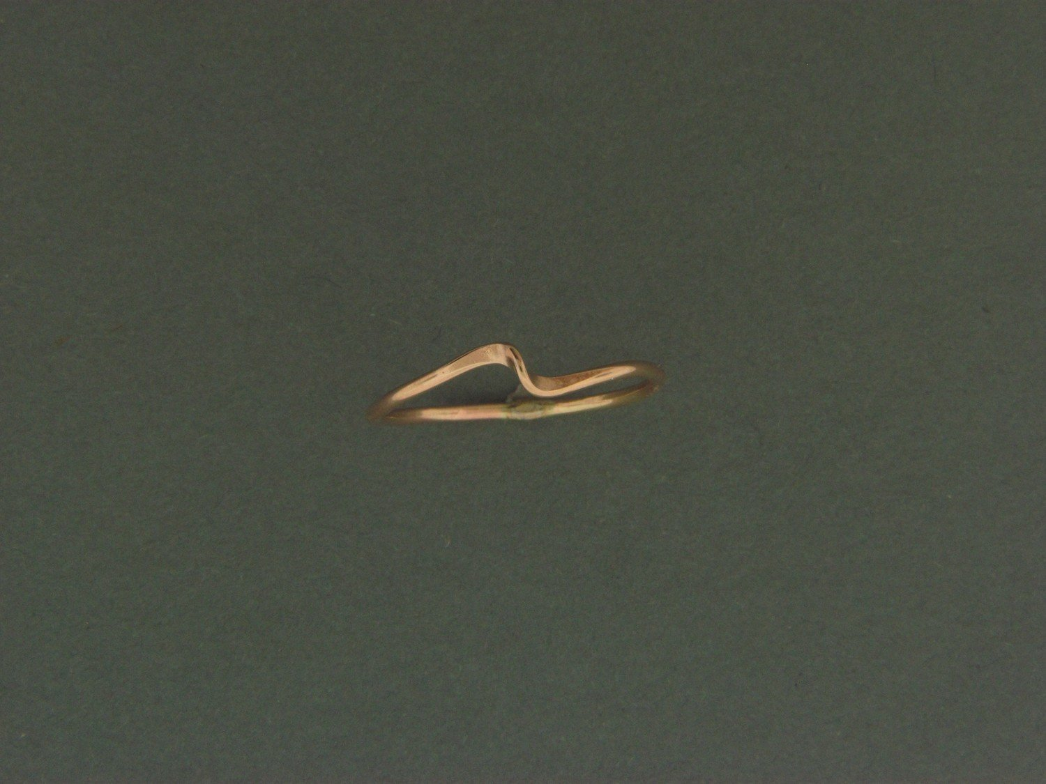 Gold Filled Wave Skinny Ring
