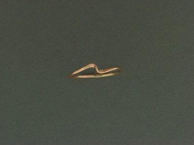 Gold Filled Wave Skinny Ring