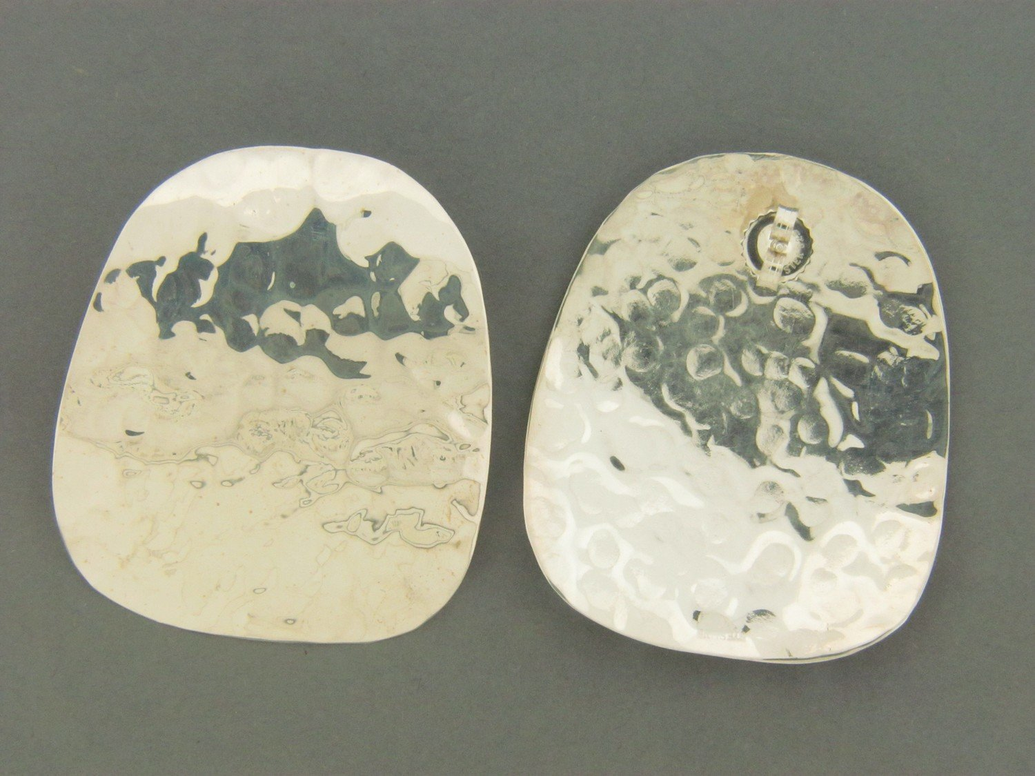 Large Plate  Hammered
