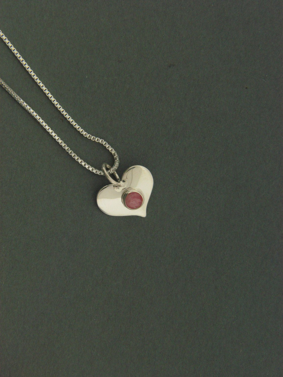 Small Heart w/ Stone Pendant