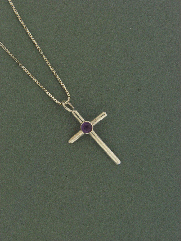 Small Cross w/   Stone Pendant