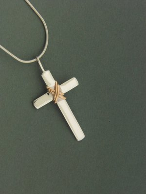 Heavy Cross w/ GF Wrap Pendant