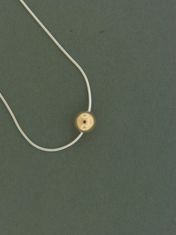 Single Gold Filled Bead Pendant