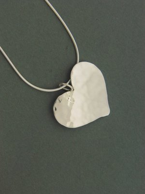 Large Plate Heart Pendant