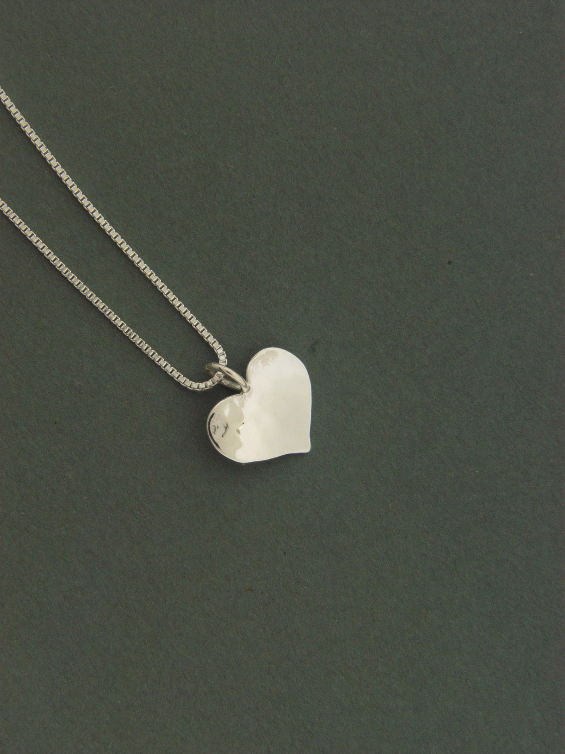 Small Plate Heart Pendant