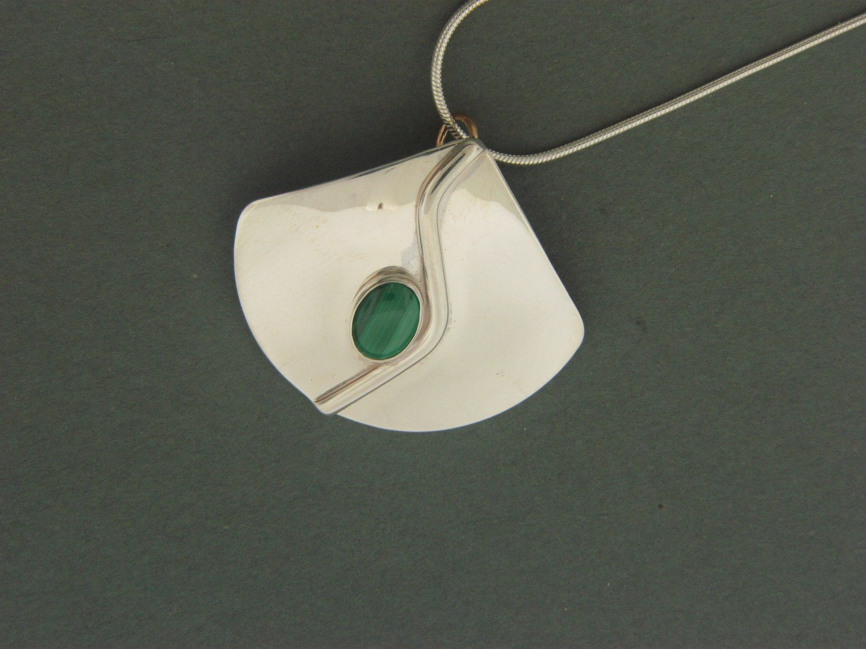 Triangle Stick  w/ Stone Pendant