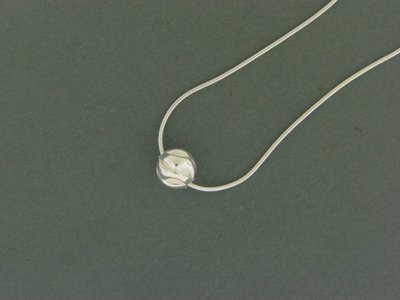 Single Sterling Fancy Bead Pendant