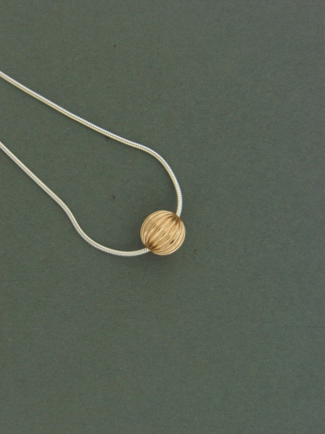 Single Gold Filled Fancy Bead Pendant