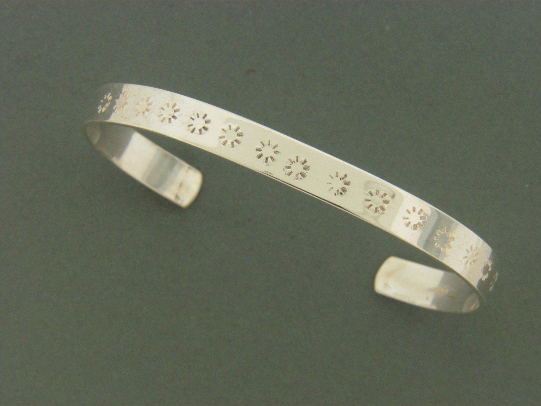 Flat Cuff w/ Design Bracelet