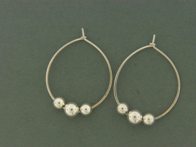 Large Hoop W/ Beads