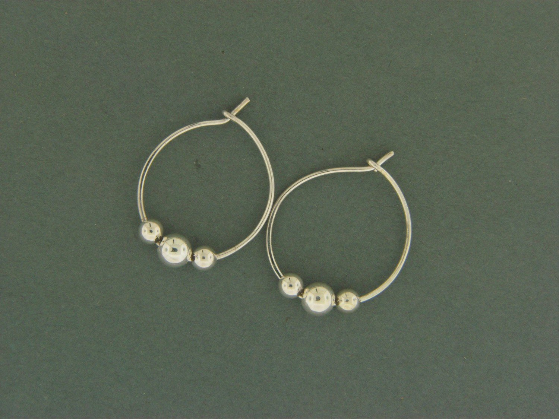 Medium Hoop W/ Beads