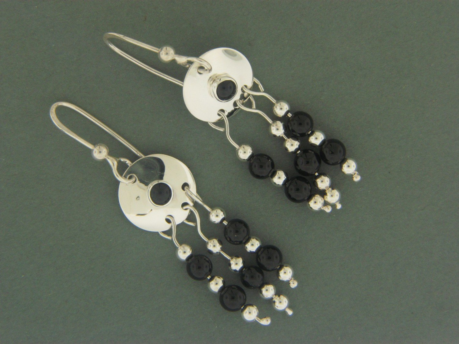Disc w/ Bead Dangles