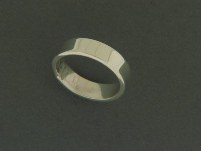 Wide Flat Smooth Ring