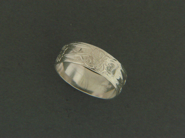 Wide Fancy Print Ring