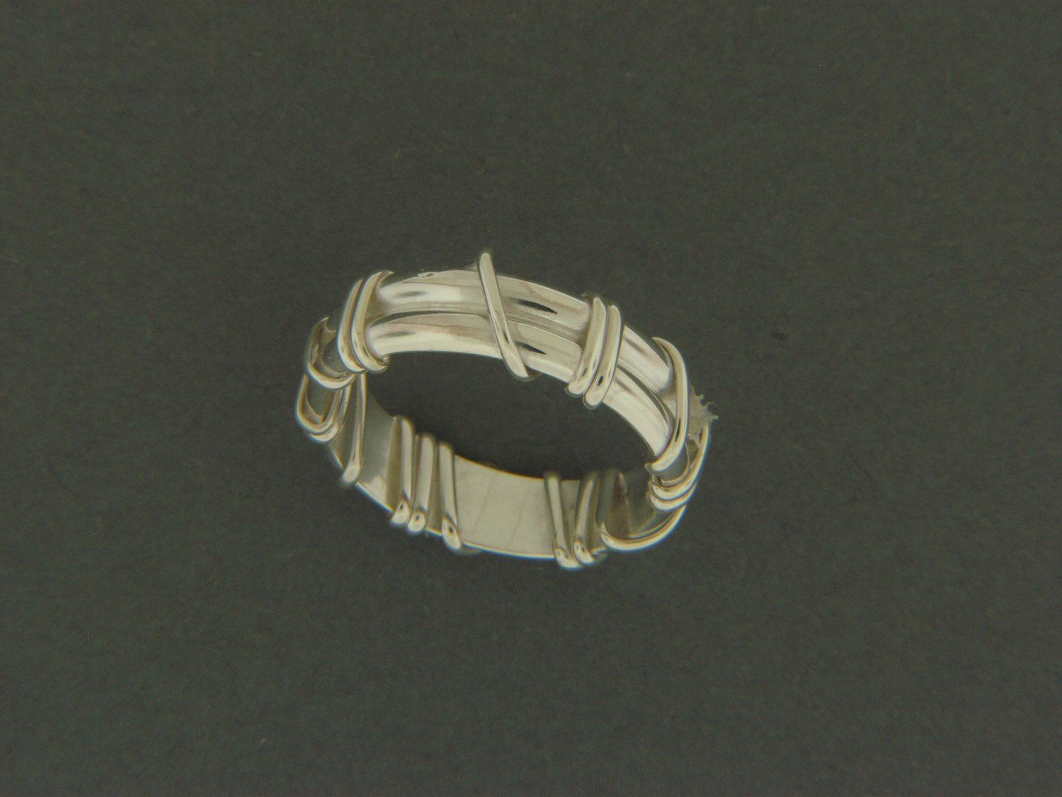 Double Band w/ Sterling Wrap Ring