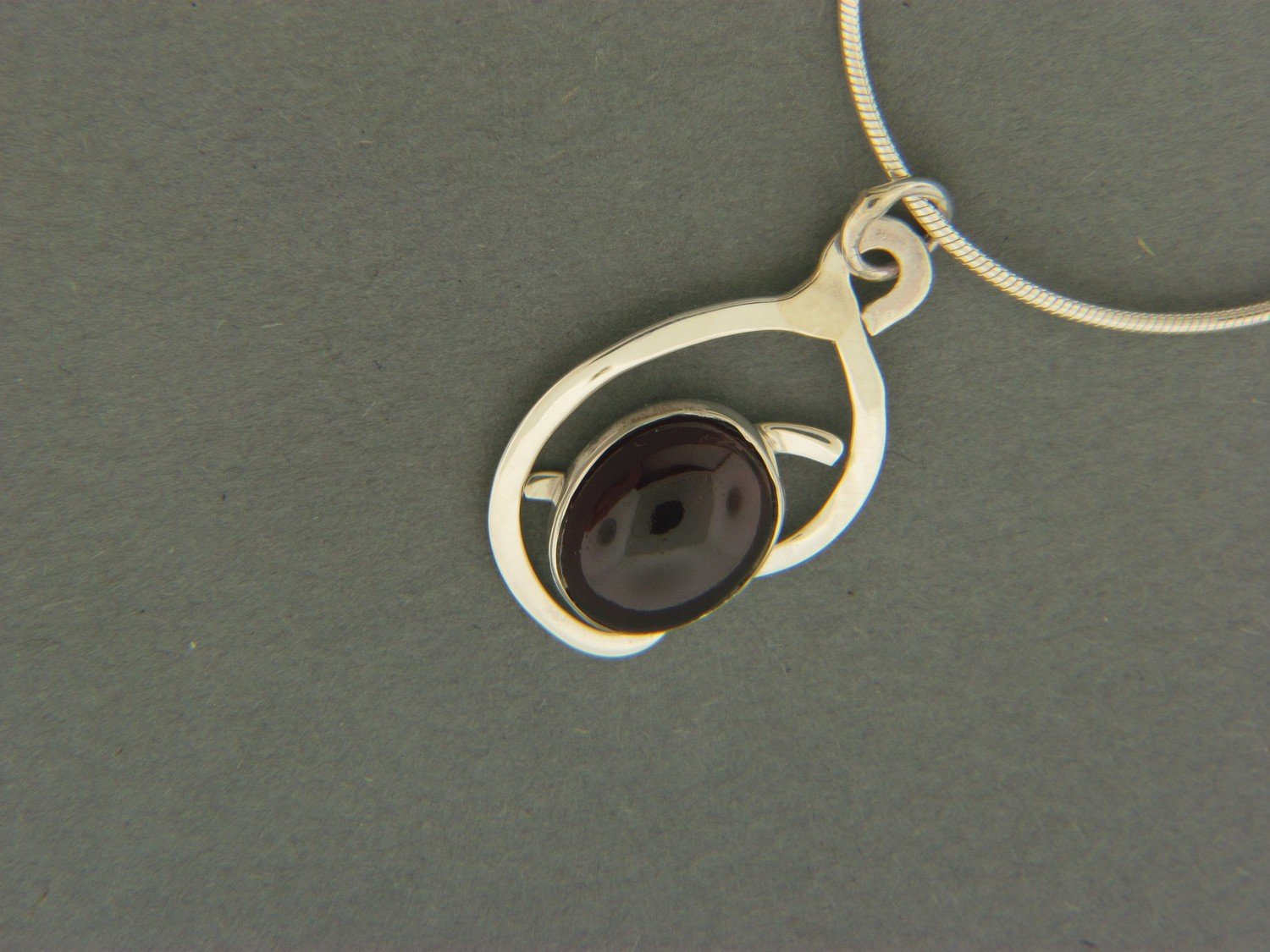 Abstract w/ Stone Pendant
