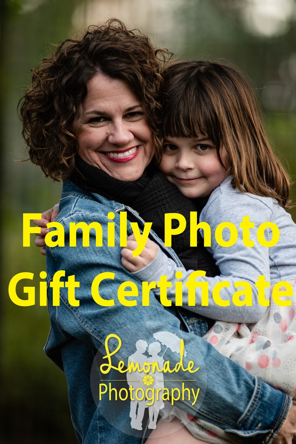 2019 Family Photo Gift Certificate