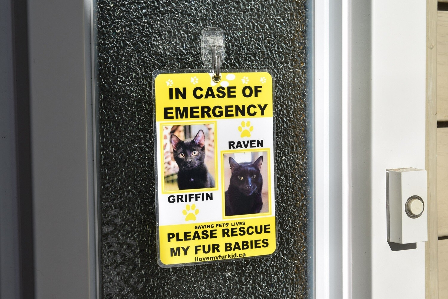 Emergency Pet Sign (Two photos)