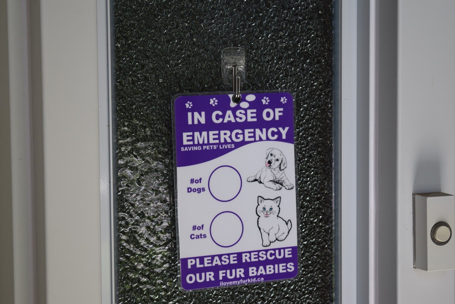 Generic Emergency Pet Sign