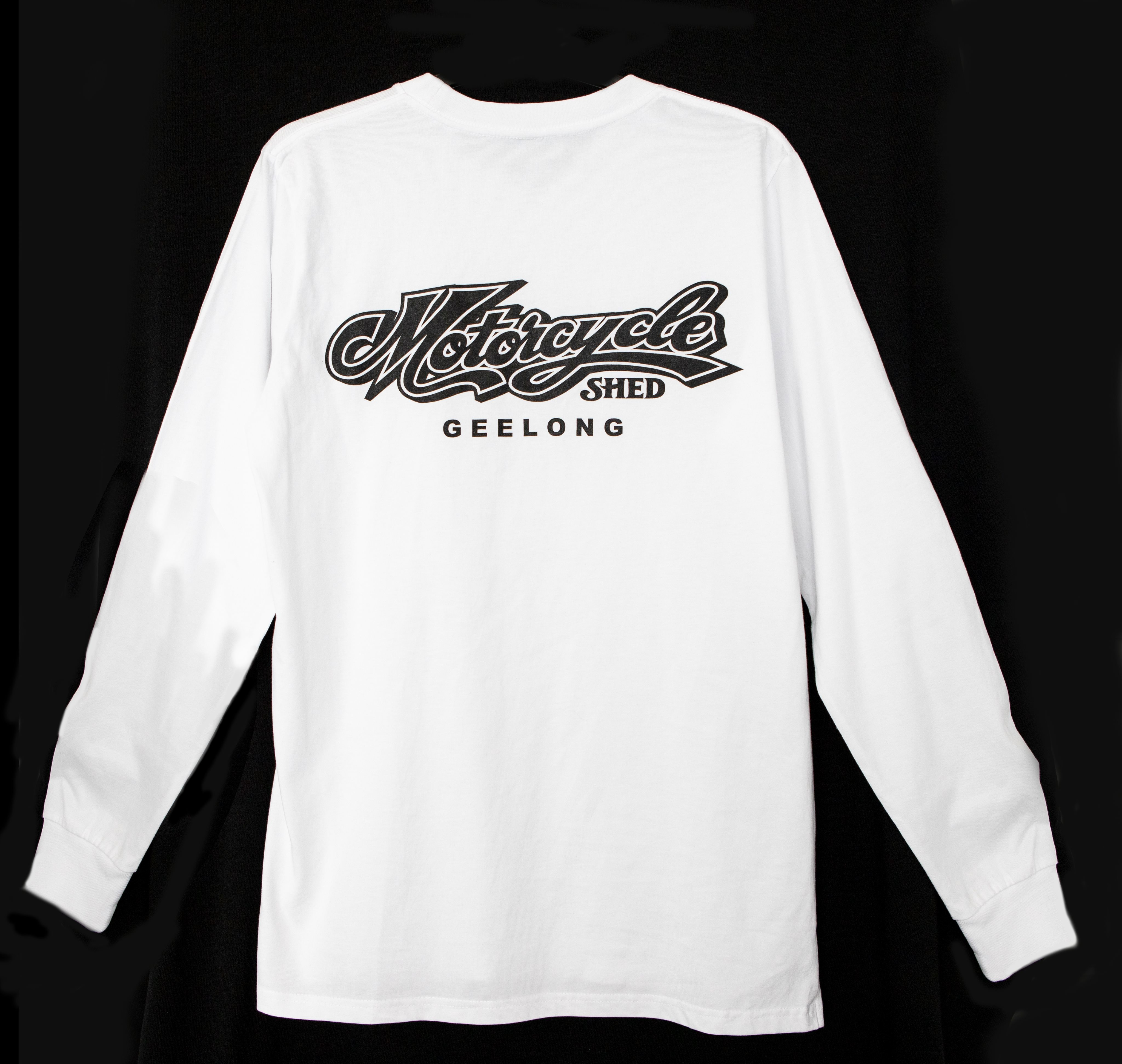 Motorcycle Shed 100% Cotton Top LONG - White