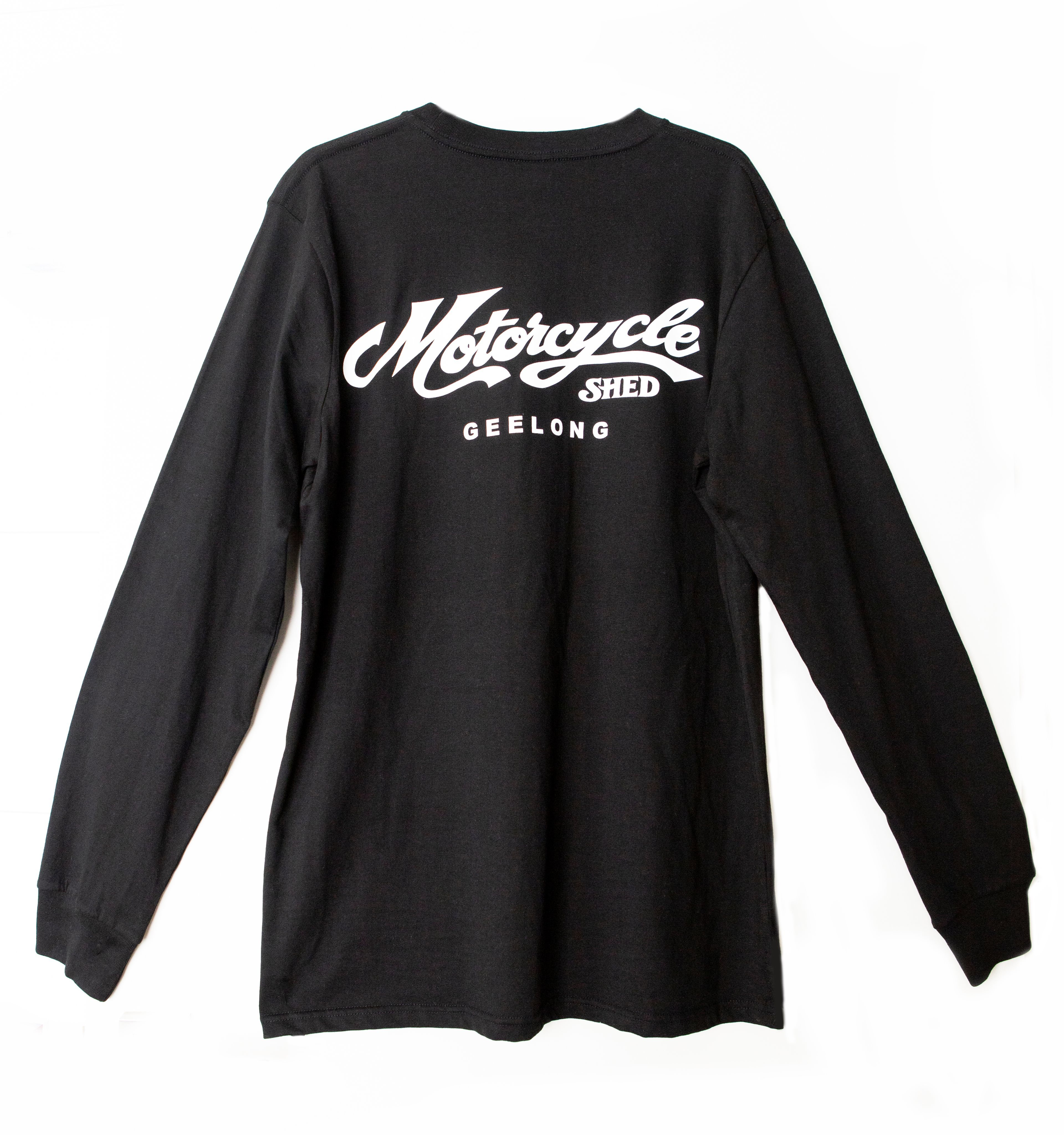 Motorcycle Shed 100% Cotton Top LONG - Black