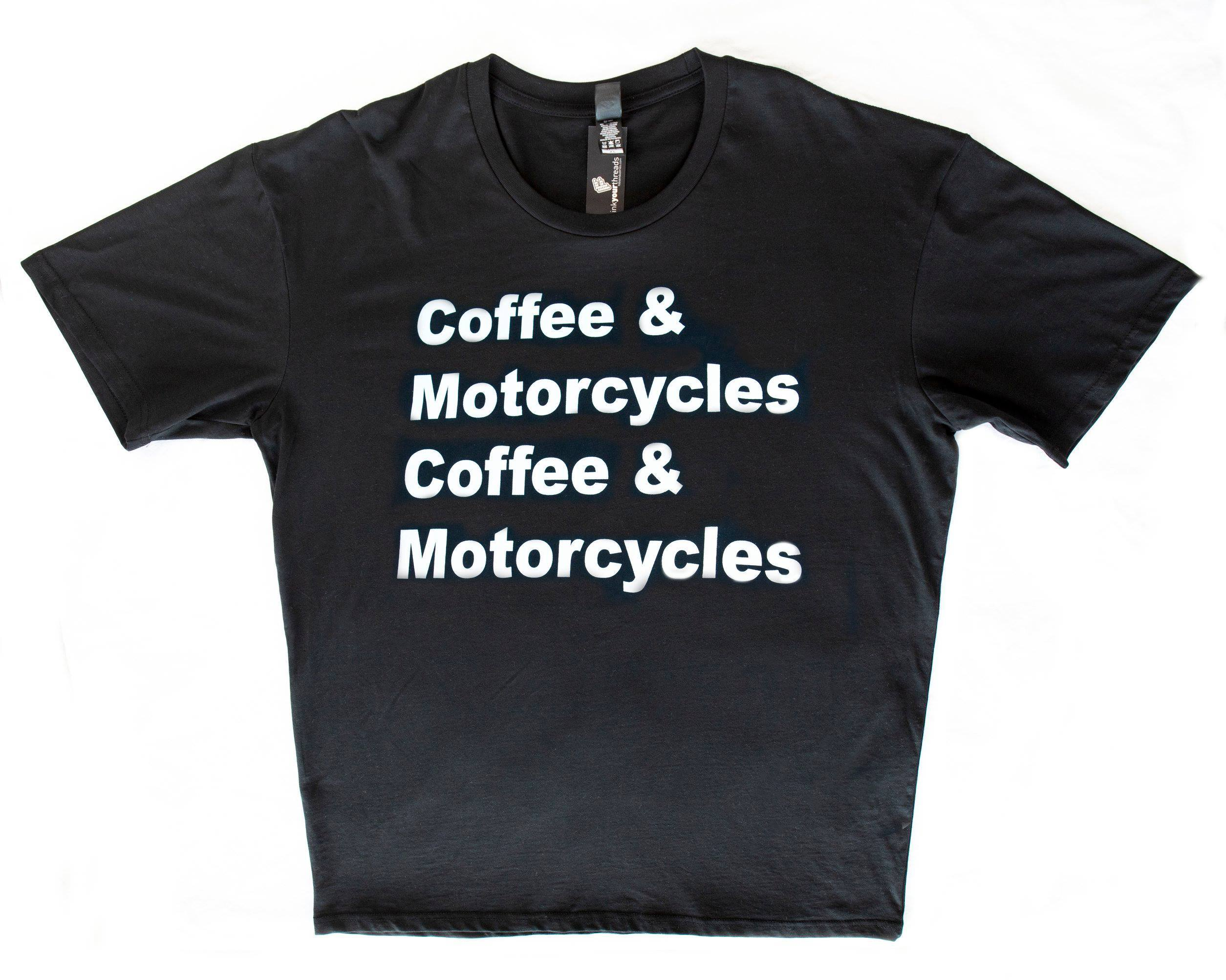 Coffee & Motorcycles 100% Cotton Tee 00001