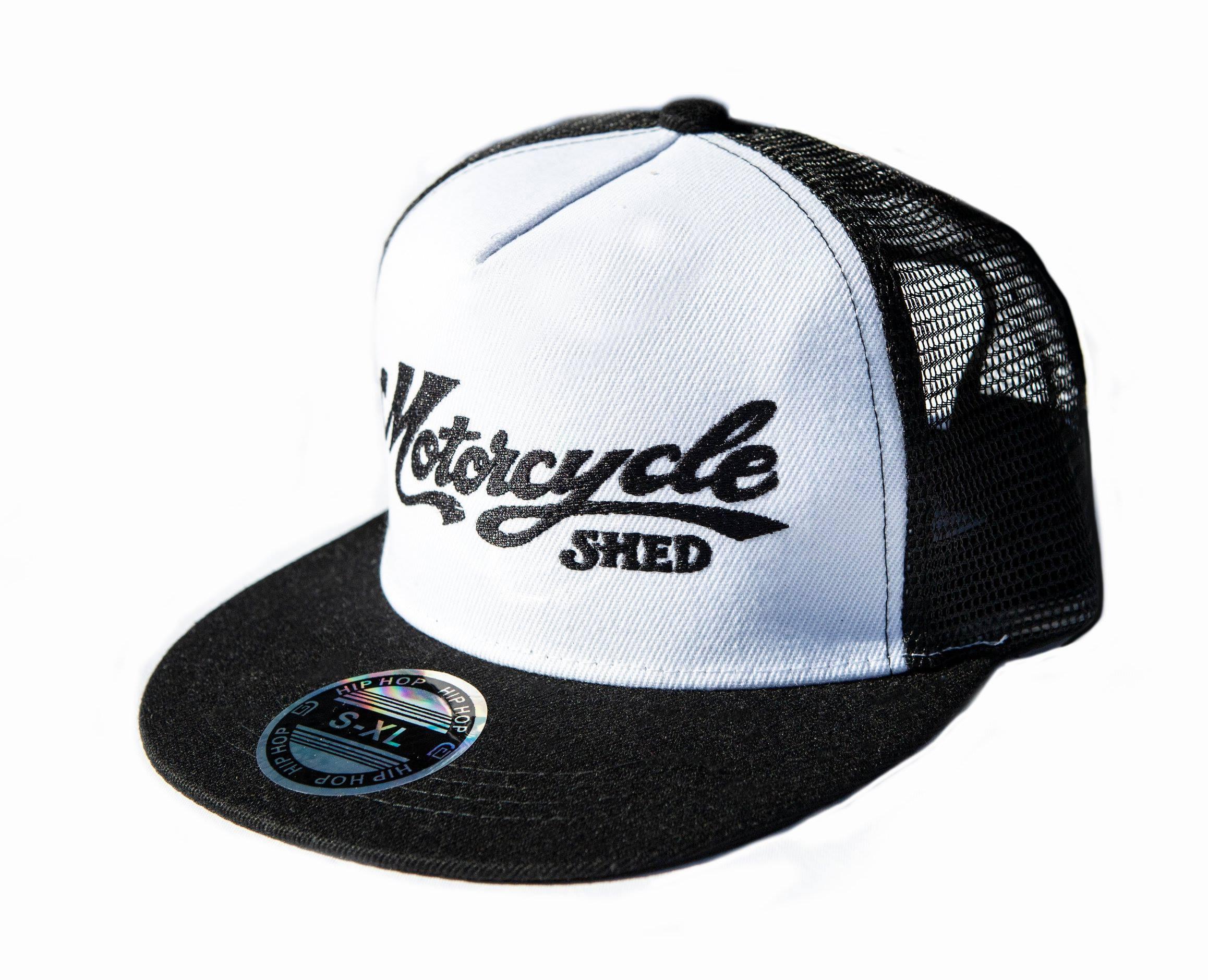 Motorcycle Shed Flat Cap - Mesh Back 00002