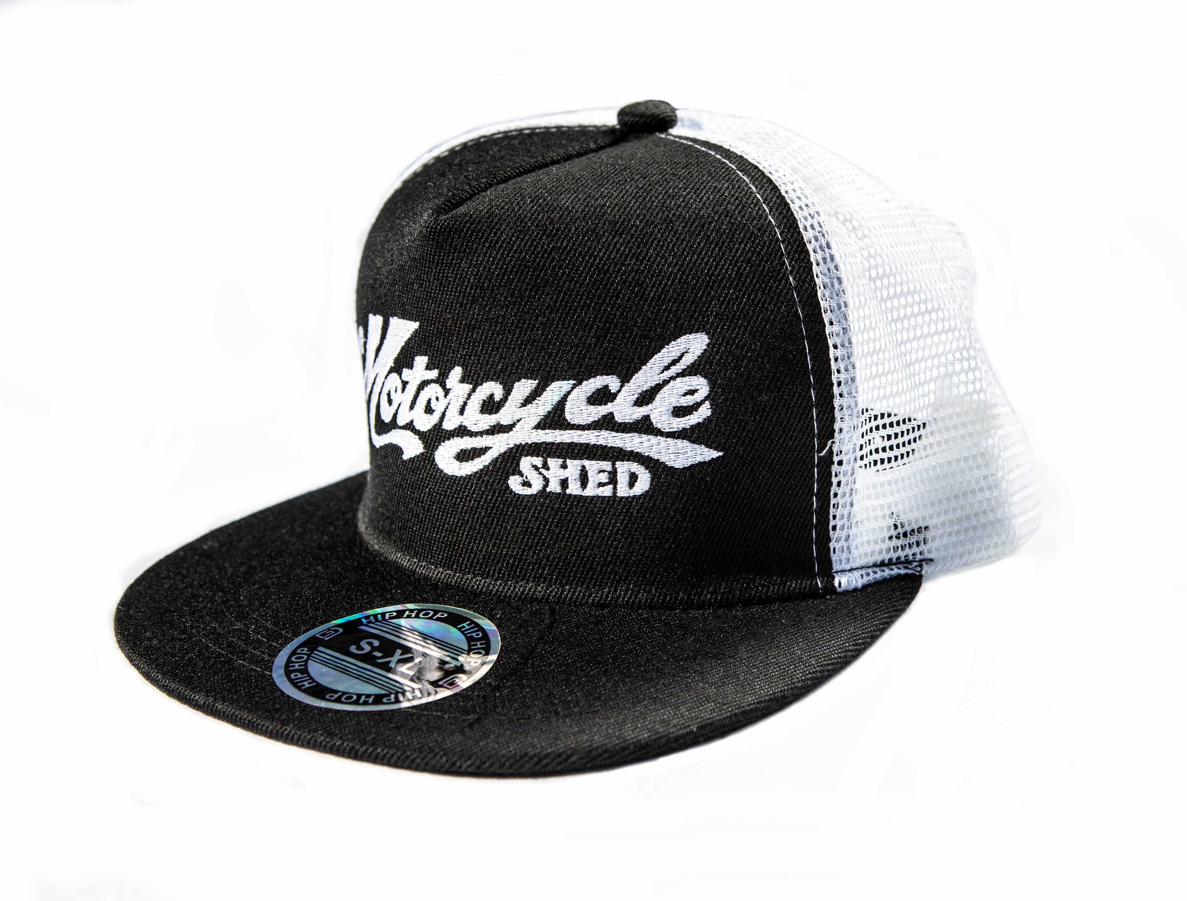 Motorcycle Shed Flat Cap - Mesh Back