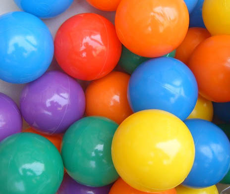 Colourful Air-filled Balls (8cm Assorted Colours)