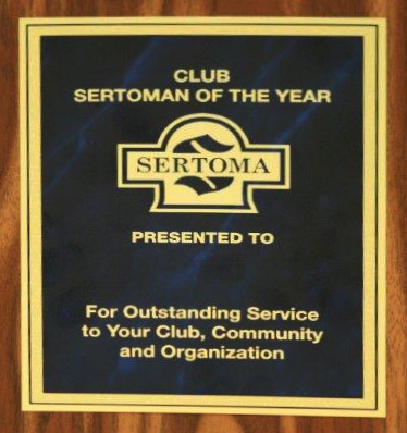 Club Sertoman of the Year Plaque 1500