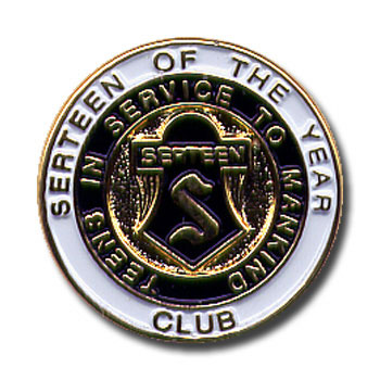 Club Serteen of the Year Pin