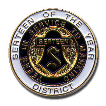 District Serteen of the Year Pin